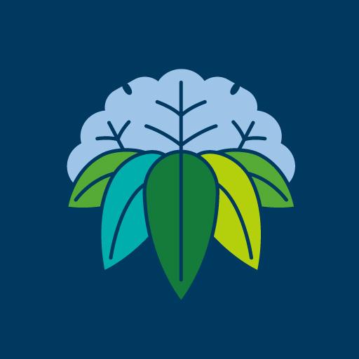 雪持ち笹[藍]