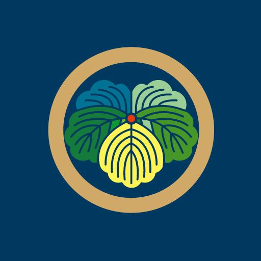丸に蔦[藍]
