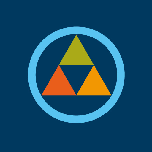 丸に三つ鱗[藍]