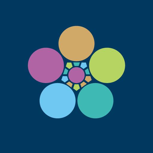 梅鉢[藍]