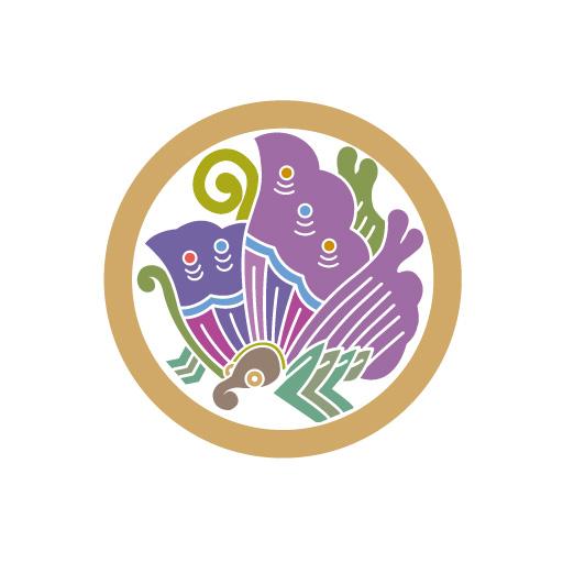 丸に揚羽蝶[白]