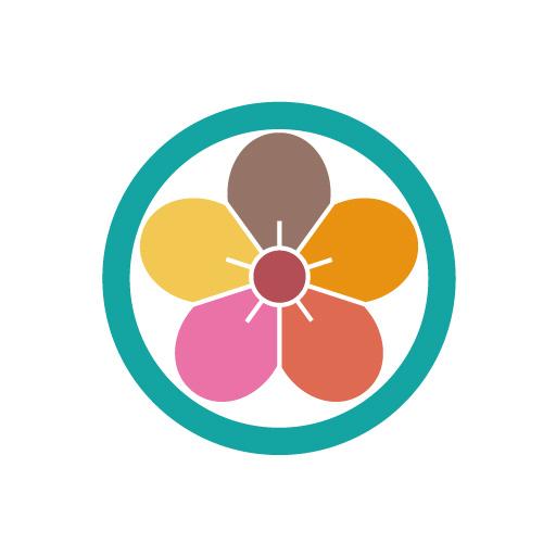 丸に梅花[白]