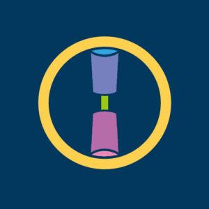 丸に一つ杵[藍]