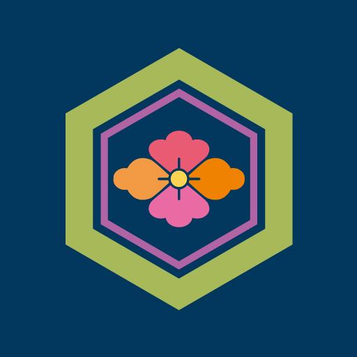 亀甲花菱[藍]