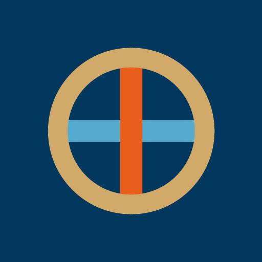 丸に十字[藍]