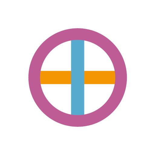丸に十字[白]
