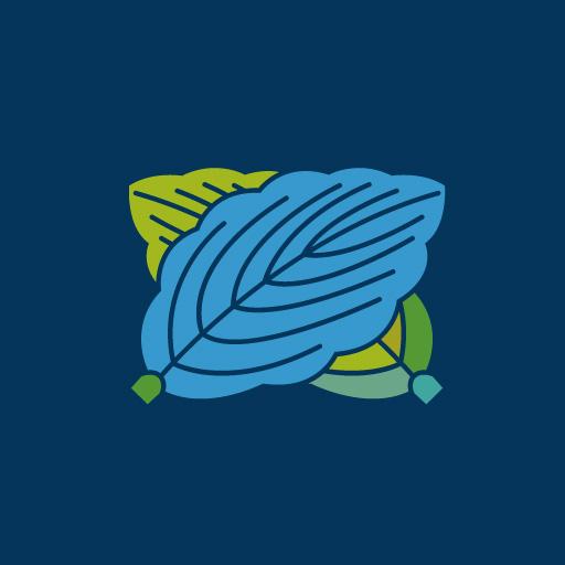 違い柏[藍]