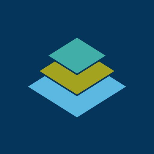 三階菱[藍]