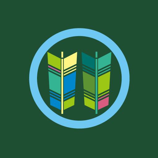 丸に並び矢[緑]